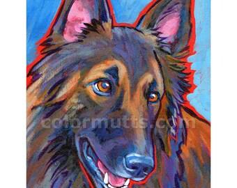 BELGIAN TERVUREN Dog Original Painting on Canvas 7x9 by Lynn Culp