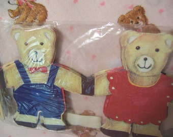 adorable bears paper garland