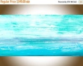 Abstract painting original seascape artwork  painting on canvas wall art wall Decor home decor wall hanging blue green white by qiqigallery