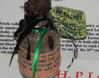 HP Lovecraft AUTHENTIC Grave Dirt Collected from Rhode Island, Swan Point
