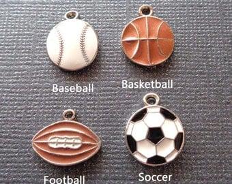 Add-on Sport Charm - Basketball Soccer Football charm- Sport Charm add on - K90