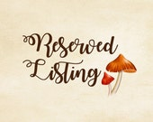 RESERVED LISTING for wendysiglock