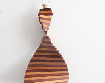 Hanging Mobile Sculpture Spiral Handmade Whirlygig Sculpture