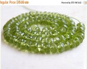 Final 51% off Sale Peridot Gemstone Rondelle Green Exceptional Faceted 5.5mm 25 beads