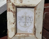 4 x 6 WHITE old vintage wood molding picture frame