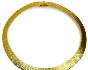 Vintage Monet Gas Pipe Choker Necklace