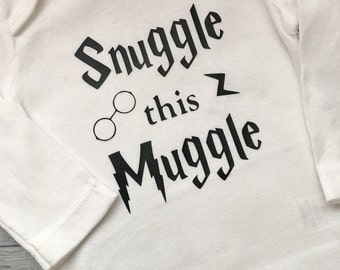 Snuggle this muggle  funny vinyl design body suit