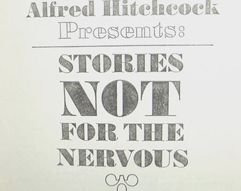 1960s book / 60s short stories / horror suspense / Alfred Hitchcock Stories Not For the Nervous