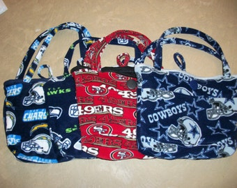 Fleece Diaper Bag (Choose San Diego Chargers, Seattle Seahawks, San Francisco Giants or SanFrancisco 49er Pattern)