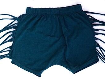 Fringe Shorts- Navy