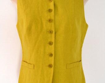 KENZO Paris Waistcoat. Beautiful 1980's Designer waistcoat with Mandarin Collar.