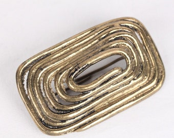 VINTAGE Rectangular Gold Metal BELT BUCKLE