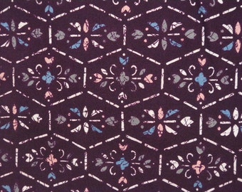 Vintage haori S384,  brunette purple