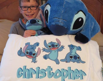 personalized pillow case disney stitch insipred