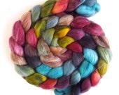 Falkland Wool Roving - Hand Dyed Spinning or Felting Fiber Fiber, Rich Details, 4 ounces