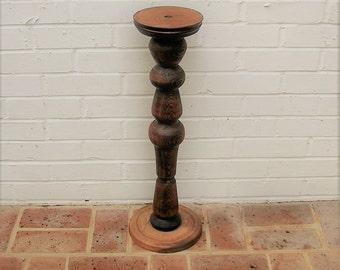 Vintage Wooden Pedestal Vintage Wood Pedestal Candle Holder Table Base