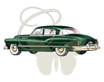 Antique Car Craft Artwork Downloadable Clipart Digital Illustration Travel Printables