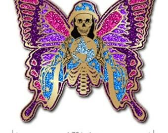 La Santisima Muerte fundraiser Pin and Sticker presale!
