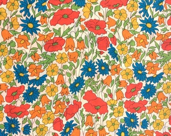 Liberty Tana Lawn fabric Poppies and Daisies  Fat Quarter Tissu Liberty