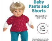 "cutie pie & me Baby Pants and Shorts doll clothes pattern for 15"" baby dolls PDF"