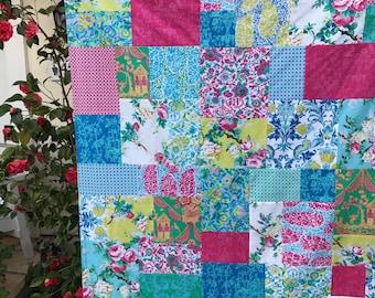 Jennifer Paganelli Sunny Isle Patchwork and Minky Blanket