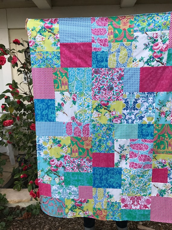 Jennifer Paganelli Sunny Isle Patchwork and Minky Blanket