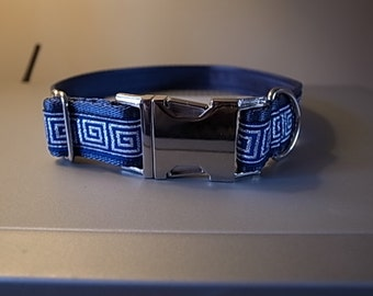Greek Key Dog Collar with Side Release Buckle - JRT/Labrador/Vizsla/Poodle/Other Breed