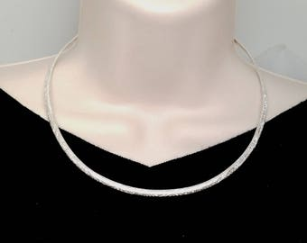 Made To Order  Discreet Contoured Slave Collar Sterling Silver with Sterling Silver Clasp/lock Fern Garden Pattern