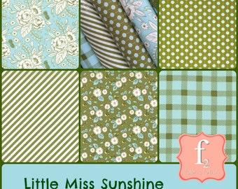 Little Miss Sunshine Bundle (5 Piece) by Lella Boutique for Moda Fabric -  100% Cotton Poplin