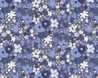 Vintage Rush Bleu CF-30034 - Chic Flora - AGF in House Studio- Art Gallery Fabrics 100% Quilters Cotton
