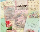 SALE JOURNALING TAGS 01 collage Digital Images  -printable download File