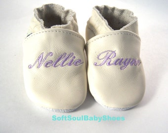 Christening leather shoes Ivor, christening girl shoes,leather baptism girl  shoes, dedication cream shoes,baptism shoes