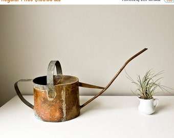 Sale Handmade Rustic Copper Watering Can Primitive