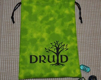 Dungeons and Dragons DRUID game dice bag
