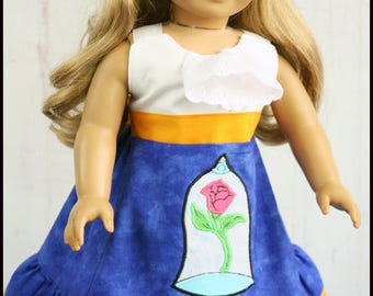 Doll Dress for American Girl size 18 inch doll Disney Beauty and the Beast