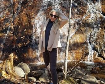 Alpaca Short Swing Coat