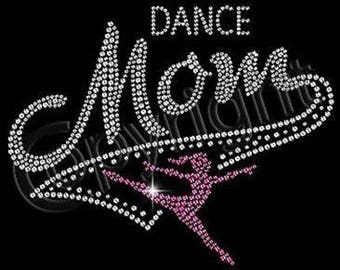 Dance Mom Women's Rhinestone Short Sleeve Tee T Shirt Small thru 3XL Plus Sizes Too! New! FREE SHIPPING!