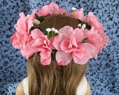 Doll Flower Crown 18 Inch Doll Flower Crown AG Doll Pink Flower Crown Am Girl Doll Flower Crown AG Doll Flower Crown Pink Flower Doll Crown
