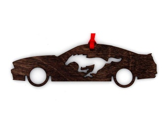 Wooden Ford 2005 - 2014 Model Mustang Ornament