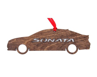 Wooden Hyundai Sonata Ornament