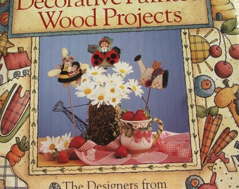 NEW - Decorative Painted Wood Projects - Provo Craft -  Vintage 1996
