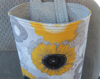Trash Bin, Car Trash Bag, Cute Car Accessories, Headrest Bag, Trash Container, Sunflowers and Other Flowers