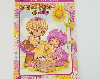 Vintage Peanut Butter and Jelly Paper Dolls Rand McNally 1984