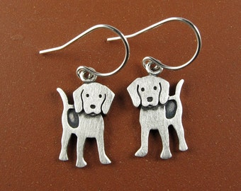 Tiny beagle earrings