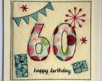 Age 60 - 60th Happy Birthday Card