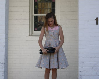 "NEW The Handmaiden's Cottage ""Charlotte"" Dress PDF Pattern for girls, Sizes 3T, 4T, 5, 6, 7, 8, 10, 12 and 14"