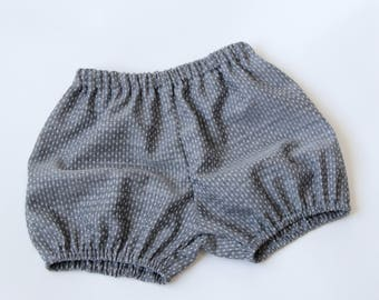Denim Dot Chambray Bloomers  Baby Girl Bloomers Toddler Girl Bloomers Baby Girl Shorts