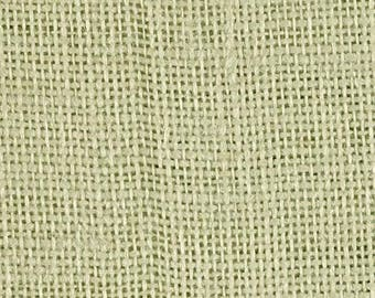 End of Bolt Remnant - Sage Green Burlap Fabric