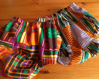 African Kente print cotton diaper nappy cover bloomers pants