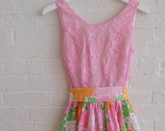Tea Dress { rosa pink  } size 0-2